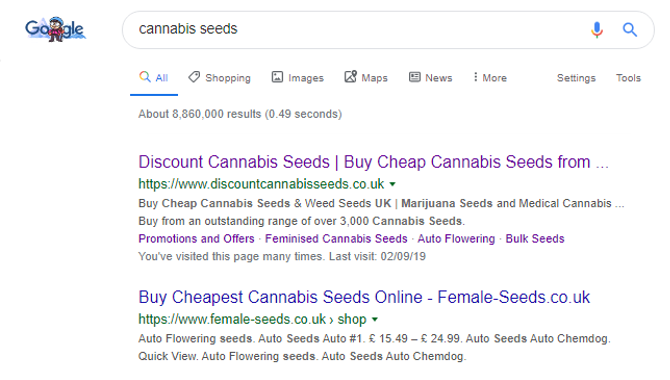 Google - Discount Cannabis Seeds