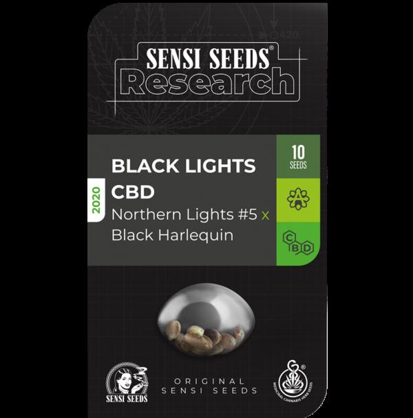Black Lights CBD Auto Feminised Cannabis Seeds - Sensi Seeds Research