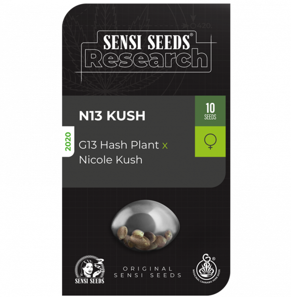 N13 Kush Feminised Cannabis Seeds - Sensi Seeds Research