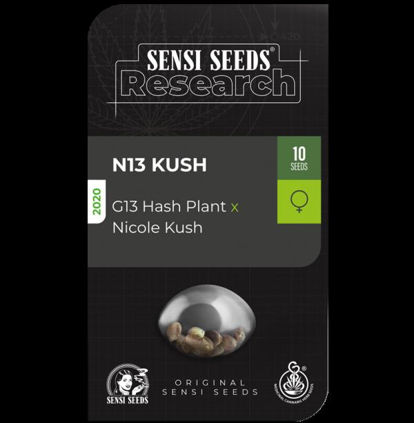 N13 Kush Feminised Cannabis Seeds - Sensi Seeds Research