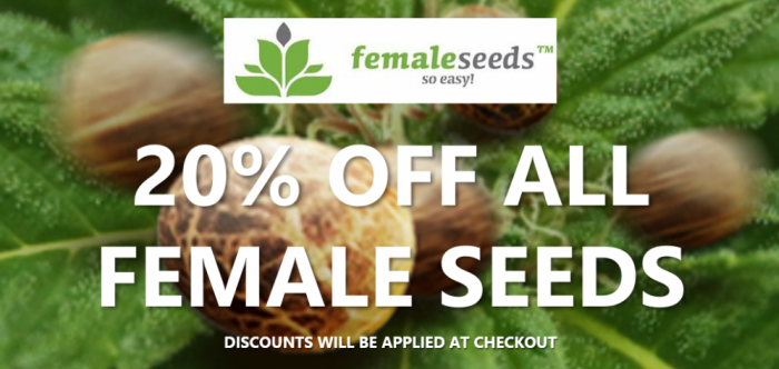 20% Off All Female Seeds | Discount Cannabis Seeds