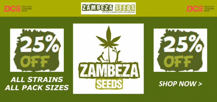 25% Off Zambeza Seeds - Discount Cannabis Seeds
