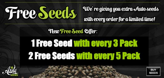 Free Auto Seeds | Discount Cannabis Seeds