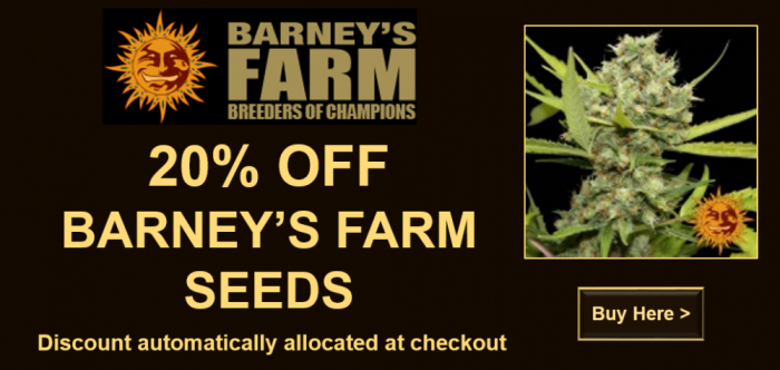 20% Off All Barneys Farm Seeds | Discount Cannabis Seeds